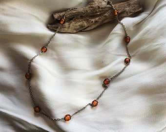 Lovely Amber and Sterling Silver Necklace