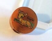 "Vintage Bakelite Brooch - Unrestored 1930s Rare Disney Bambi Bakelite Pin Converted Pencil Sharpener 1 1/16"""