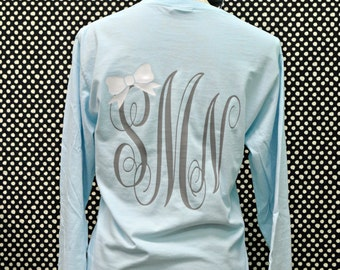 Custom Long Sleeve Preppy Monogrammed Shirt