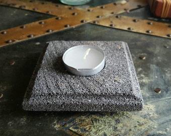 Stone Tealight Candle Holder