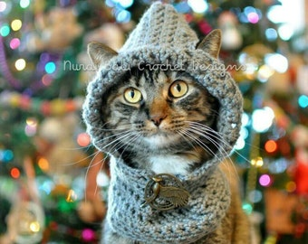 Cat Hat Winter Hoodie Pet Hat Made to Order