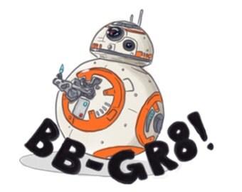 BB-GR8 thumbs up sticker