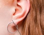 ON SALE Circle Bar Reverse Earrings