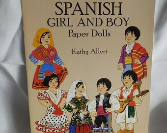 Spanish Girl & Boy Paper Dolls