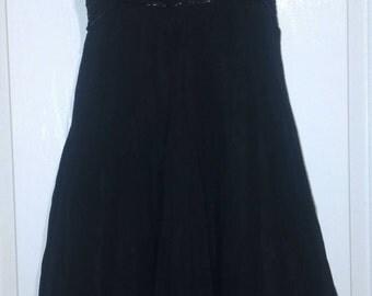 Black 90s sequin flower dress