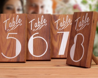Outdoor Wedding Decorations, Table Numbers, Table Markers