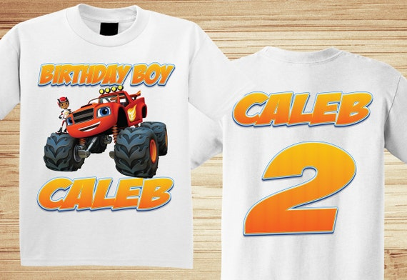 Blaze Monster Truck Shirt Front and Back ~ Truck Birthday Shirt PERSONALIZED ~ Custom