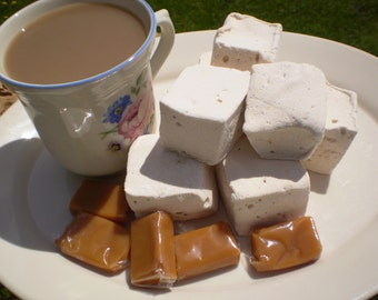 Caramel coffee marshmallows dessert table candy buffet party edible favors treats birthday gift shower wedding tea s'more confection