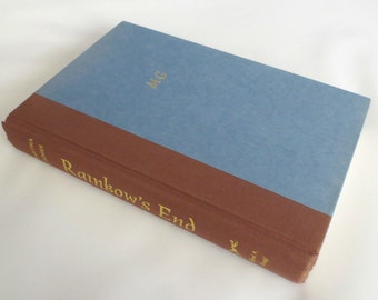 """1995 """"Rainbow's End"""" Mystery by Martha Grimes, First Edition, Signed book plate"""