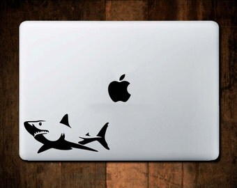 Great White Shark Decal, Computer Decal, Computer Sticker, Laptop Decal