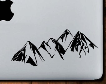 Mountain Range Decal, Macbook Decal, Laptop Decal, Laptop Stickers, Mountain Decal, Mountain Sticker
