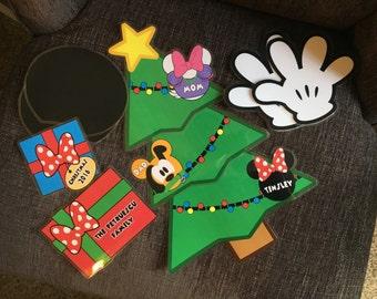Custom Disney Cruise Mickey Magnets Christmas