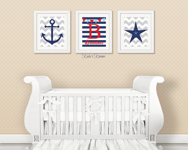 Personalized Nautical Wall Decor : Nautical nursery decor personalized piece