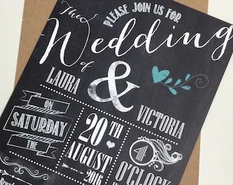 Wedding Party Invitations Vintage Vinyl Record By