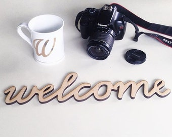 Welcome Laser Cut Sign