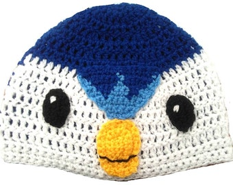 Piplup Inspired Hand Crocheted Hat
