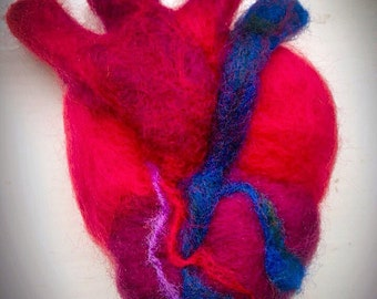 Needle Felt Anatomical heart