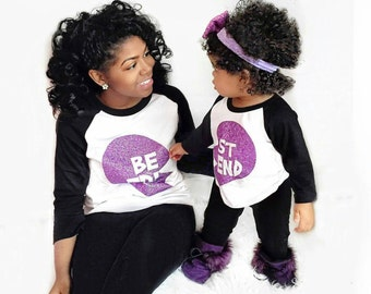 Mommy and Me Valentine Shirts, Mommy Daughter Best Friend Shirt Set, Mommy and Me set, Raglan tshirt set, Best Friend Shirt Set, BFF TEES