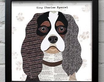 King Charles Spaniel print
