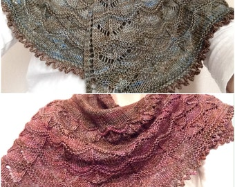 SALE! Waves of lace Hand Knit Shawl, Wrap for fall