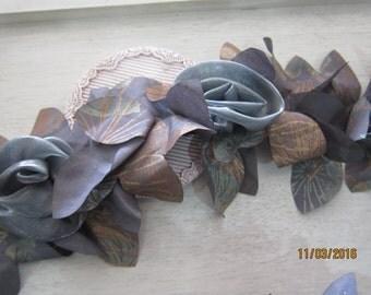 1 Yard- Organza Satin Rosette Lace /FCLC28-Gypsy Rosette Lace /Unique Lace/Tattered Rosette Lace