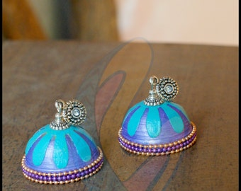 Colorful yet Contemporary jhumka earrings
