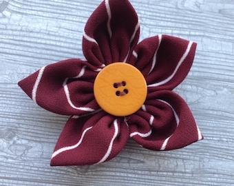 Handmade fabric flower hair clip/accessory