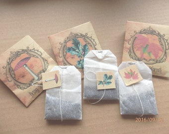 Thanks giving favors. Autumn wedding favors. Teabag wedding favours.