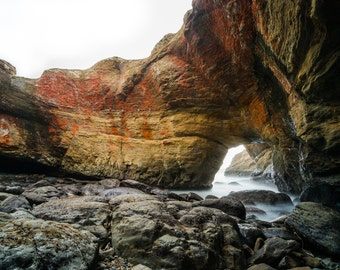 Oregon Coast Photography, Landscape Photography, Wall Art, Pacific Northwest, Beach Photography, Fine Art Print, Devils Punchbowl Otter Rock