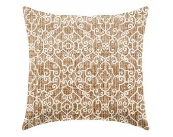 20% OFF SALE Caramel brown pillow covers, chocolate brown pillows,  decorative pillows, brown pillow, caramel pillow, euro sham, Dorm decor