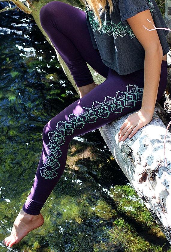 Rythmatix Leggings Screen Printed Clothing Yoga by Rythmatix
