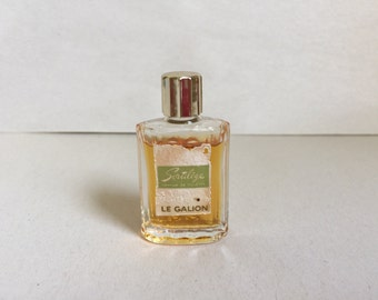 Vintage Sortilege perfum de toilette by Le Galion fluted bottle made in France 85% full