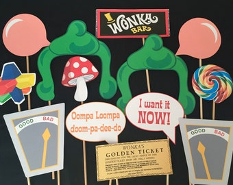 Willy Wonka Themed Photo Booth Props