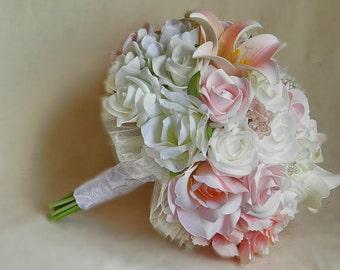 Artificial Bridal Bouquets Silk Flowers