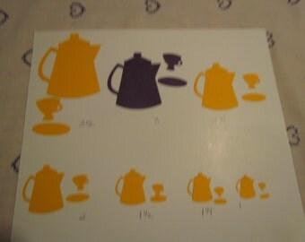 Tea pot die cuts