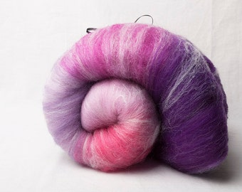 Large Gradient Batt from pink to purple (#160044)