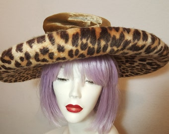 FREE  SHIPPING  1950  LaRgE  bRiM  HaT