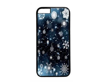 New Christmas Winter Snowflakes Pattern Case Cover for iPhone 4 4s 5 5s  5C 6 6s 6 Plus 7 7 Plus iPod Touch 4 5 6 case Cover