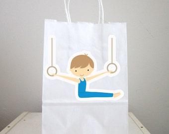 Gymnastics Goody Bags, Gymnastics Favor Bags, Gymnastics Gift Bags, Gymnastics Favors (72316239A)