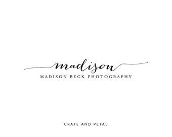 Premade Logo Design - Calligraphy Logo - Photography Logo - Boutique Logo - Small Business Logo (017)