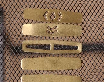 15 pcs 58 x 14 x 1 mm mixed raw chevron brass blanks  pendant 1232RM