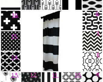 Black and White Nursery Curtains Monochrome Drapery Panel Set Black and White Curtain Panel Set Black Arrow Curtains Swiss Cross Curtains
