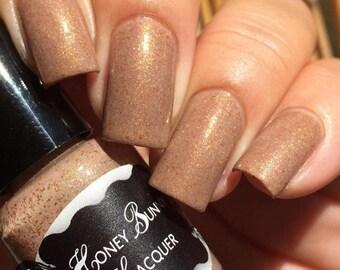 Summer Moved On - beige nail polish - shimmer nail polish - indie nail polish - 5 free - nail lacquer - handmade - nails - makeup - crelly