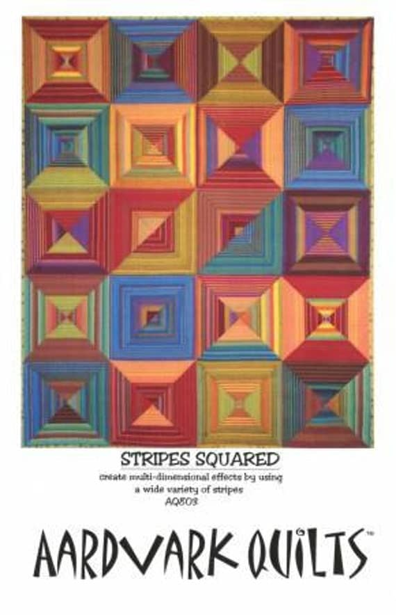 OPTICAL STRIPES SQUARED Quilt Kit  Kaffe Fassett Woven Stripes with Aardvark Quilts pattern