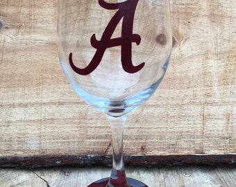 Alabama Crimson Tide Wine Glass