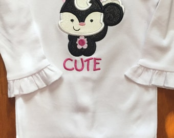 So Stinkin' Cute Skunk Shirt or Baby Bodysuit