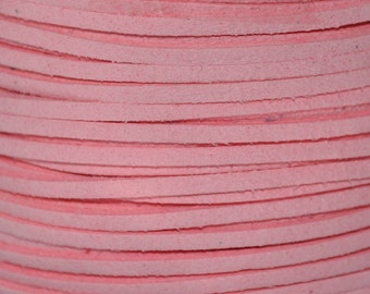 5 Metres Pink Faux Suede Cord, Faux String, Necklace Cord, Bracelet Cord, 3x1.5mm, Jewellery Supplies, UK Seller