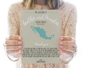 Printed OR Printable Wedding Program // Map