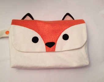 Gift for Her Made to Order: Fox Wet/Dry Clutch