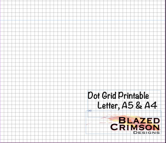 Square Grid Graph Paper Printable Bullet Journal - Planner Pages
